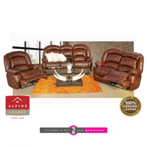 alpine Avon 5 action full leather lounge suite Furniturevibe