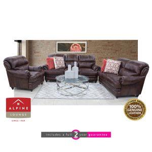 Alpine bayette full leather longe suite furniturevibe
