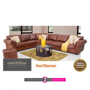 Christina leather corner lounge suite furniturevibe