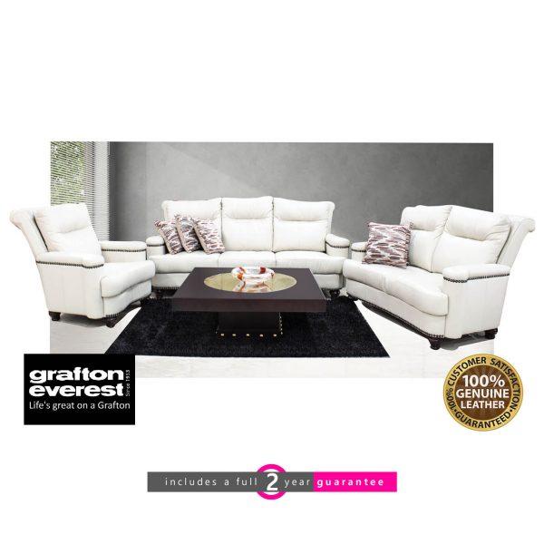 Grafton Everest diplomat leather lounge suite calico furniturevibe