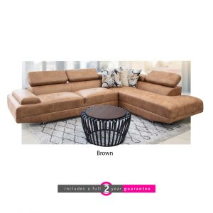 Lorenza l shape corner lounge brown furniturevibe