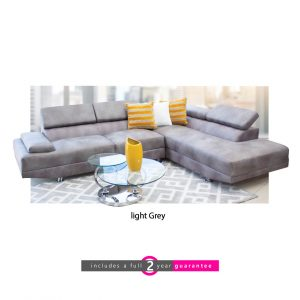 Lorenza l shape corner lounge grey furniturevibe