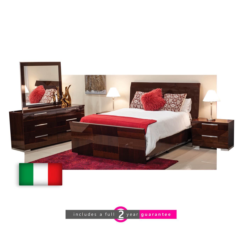 Pisa Bedroom Suite Queen Furniture Vibe