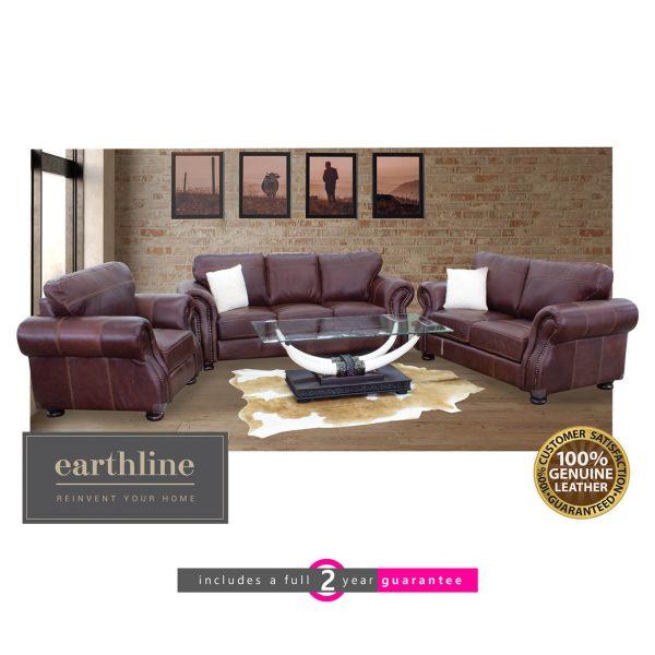 prescott 100% full genuine leather leather lounge suite furniturevibe