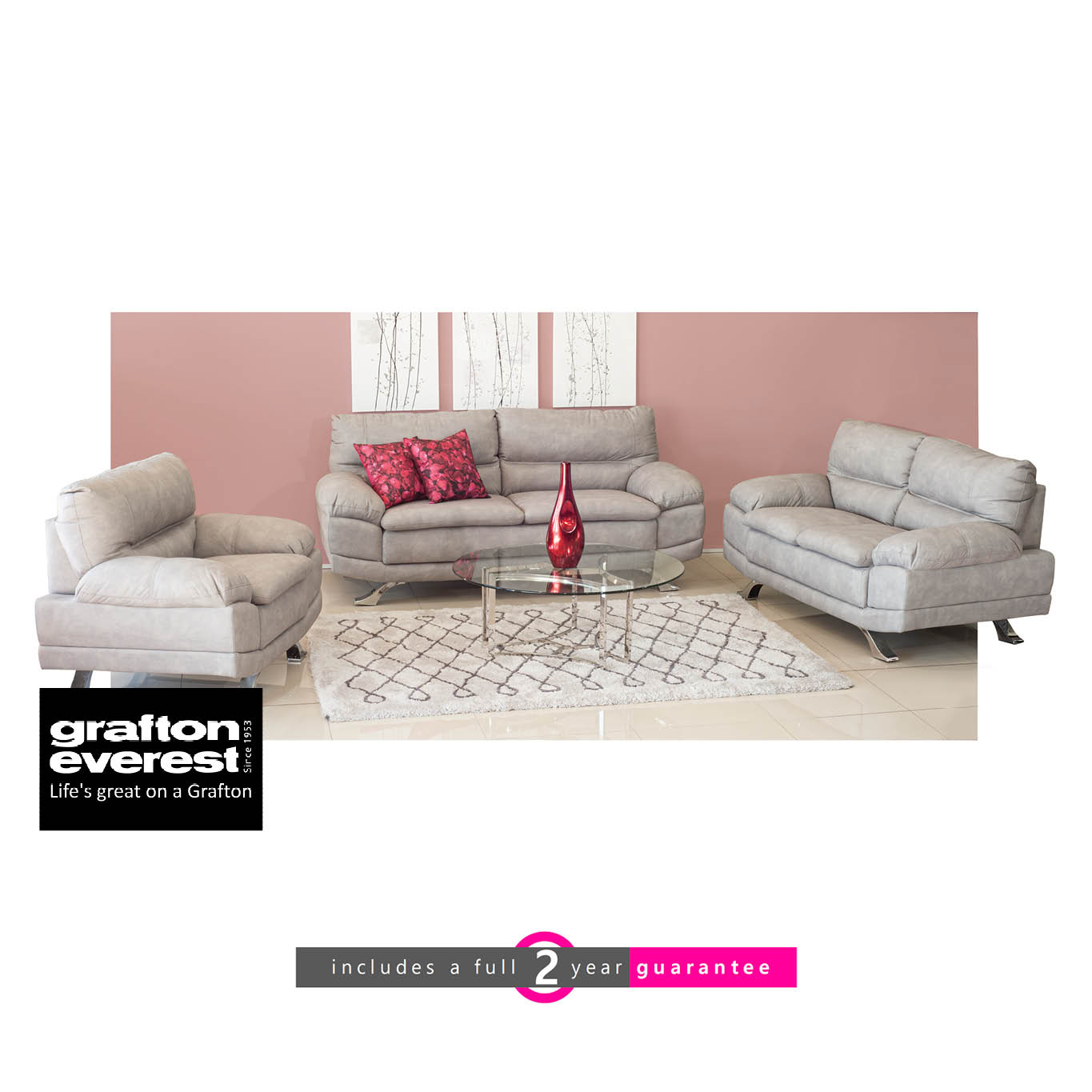Grey Lounge Suite: Grafton Everest Sherena