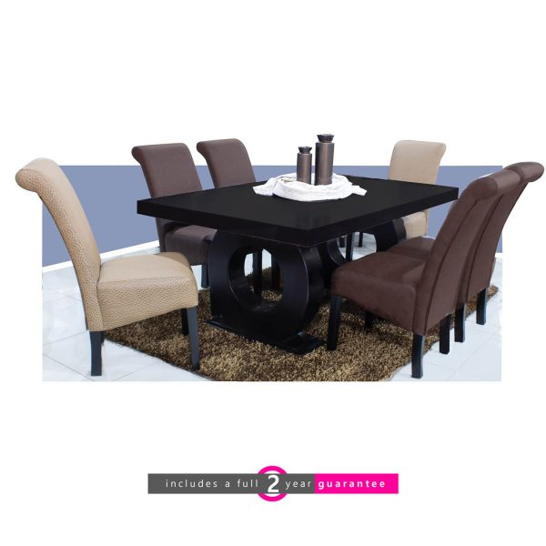 1.8m prince dining room suite 6 Ryan Chairs furniturevibe