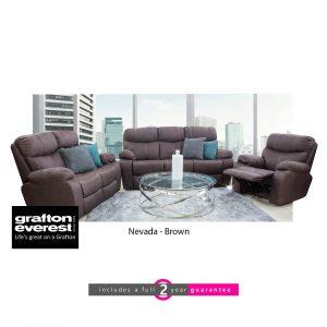Grafton Everest Nevada 3 action lounge suite brown furniturevibe