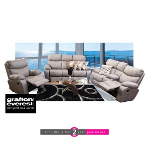 Grafton Everest nirvana 3 action lounge suite grey furneturvibe