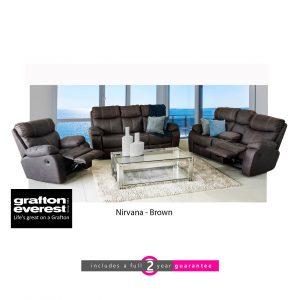 nirvana 3 action Addo brown Grafton Everest lounge suite furniturevibe