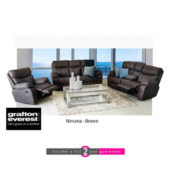 nirvana 3 action Addo brown Grafton Everest lounge suite furniturevibe