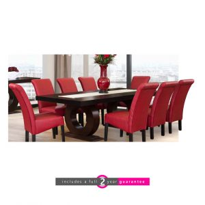 prince dining room suite red chairs