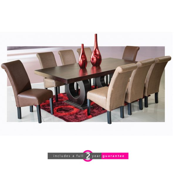 prince table and 8 Ryan Chairs furniturevibe