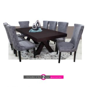 trent table and 8 knight chairs grey furnituevibe