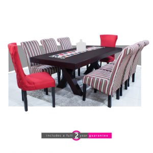 trent table and Ryan cherry strip chairs furniturevibe