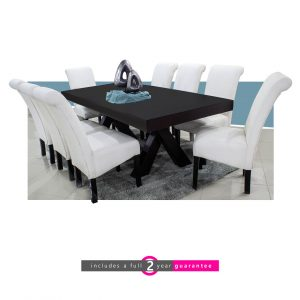 trent table and 8 Ryan white chairs furniturevibe