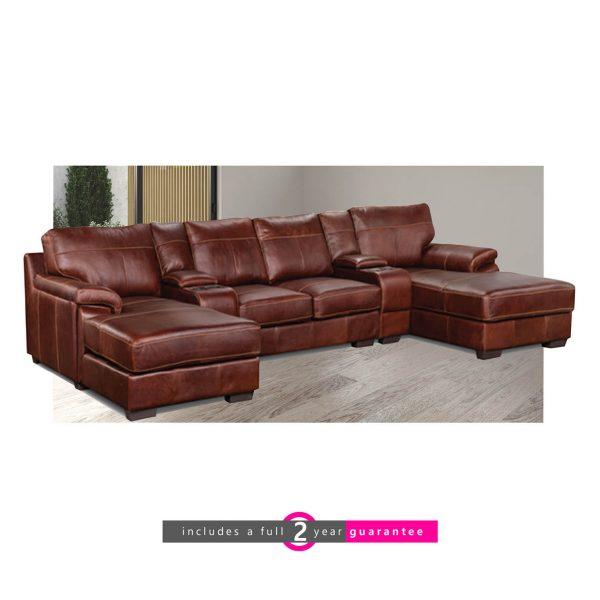 long beach cinema leather lounge suite