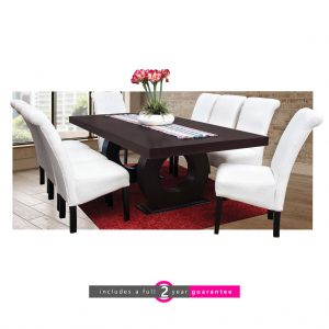 prince dining table white Ryan chairs