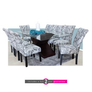 palmer table 8 Harvey floral chairs
