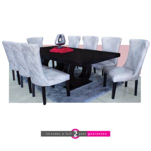prince table 8 light grey knight chairs furniturevibe