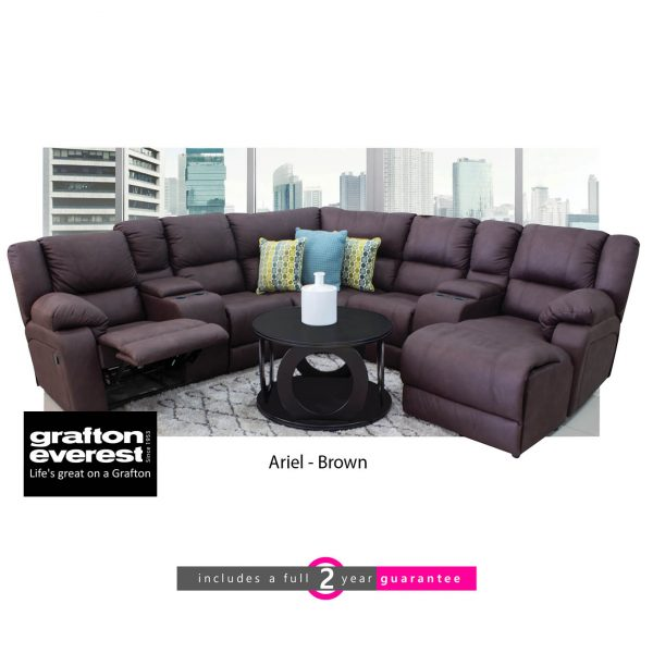 Grafton Everest Ariel corner lounge suite brown furniturevibe