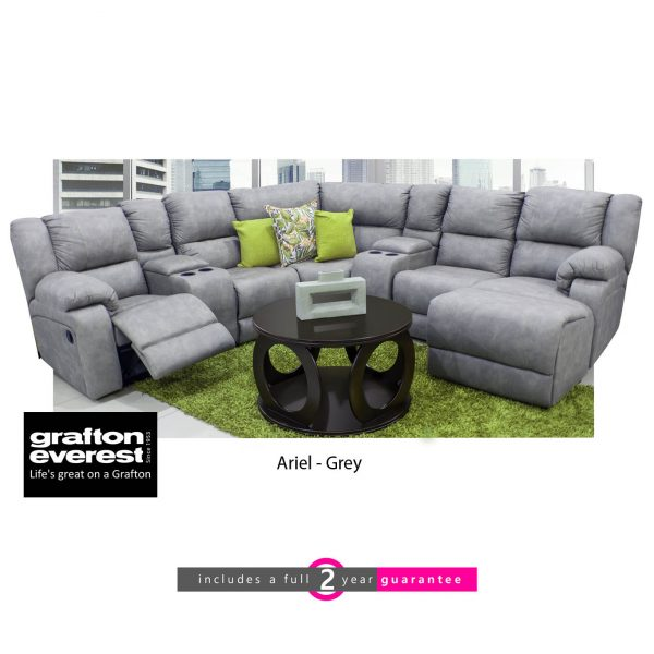 Grafton Everest Ariel corner lounge suite grey furniturevibe