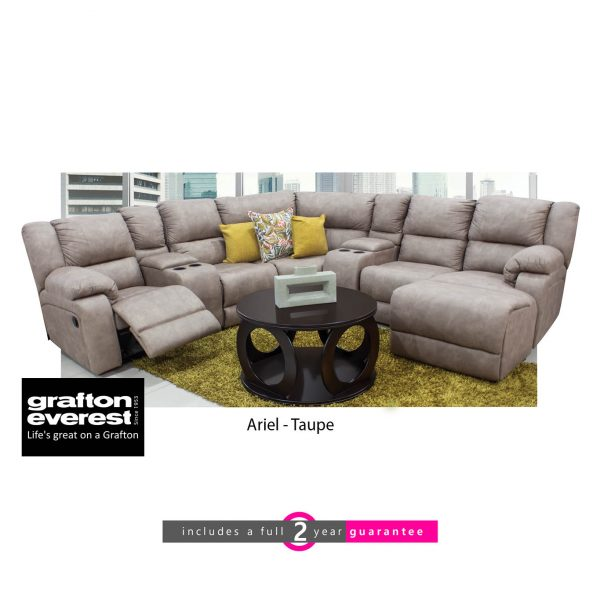 Grafton Everest Ariel Taupe corner lounge suite Taupe furniturevibe