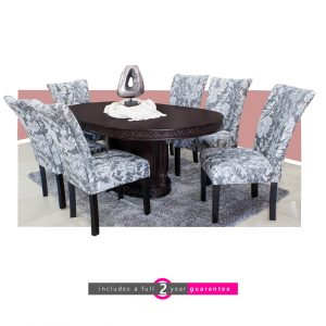 palmer dining room suite 6 Harvey Floral chairs furniturevibe