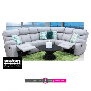 Grafton Everest Nevada 4 piece corner 2 recliners furniturevibe