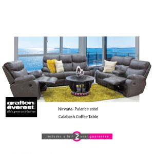 Grafton Everest nirvana Palance steel fabric lounge suite furniturvibe