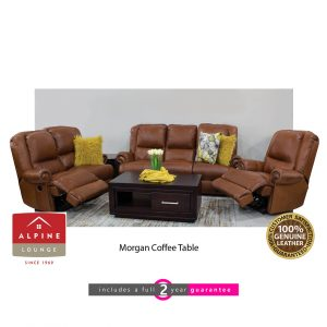 alpine choose 100% full genuine leather 5 action lounge suite furniturevibe