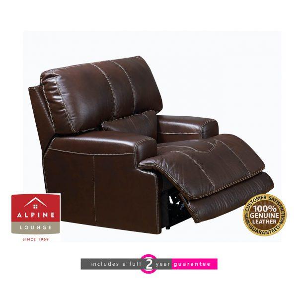 Madrid motorised recliner leather furniturevibe