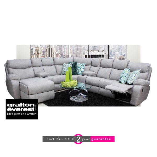 Grafton Everest corner fabric lounge suite furniturevibe
