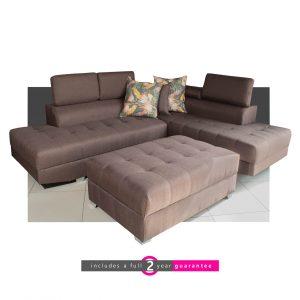 corner lounge suite brown