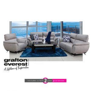 Grafton Everest sky fabric lounge suite furniturevibe