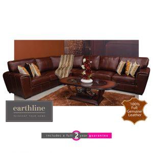 leather corner lounge suite